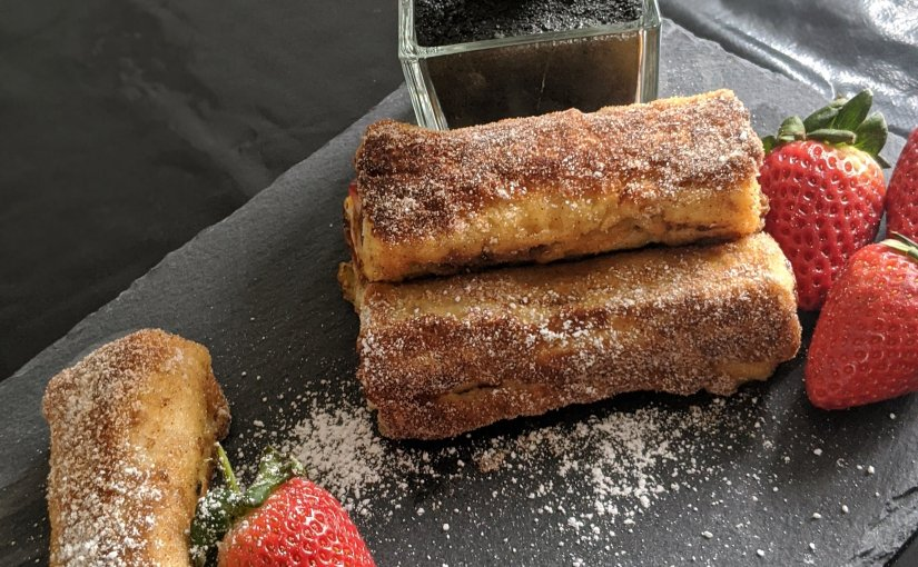 Nutella and Strawberry French ToastRolls